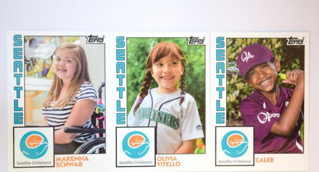 Seattle Children's trading card project funded by John L. Scott Foundation
