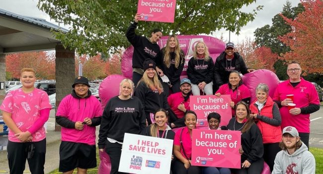 John L. Scott offices raise funds for breast cancer research
